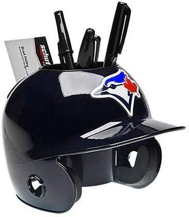 Toronto Blue Jays MLB Baseball Schutt Mini Batting Helmet Desk Caddy - MLB Mini Helmets