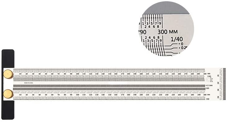 SWMIUSK 300mm High-precision T Square Ruler for Woodworking Marking Stainless Scribing Line Rule Carpenter Square Measuring Tool Metric Version