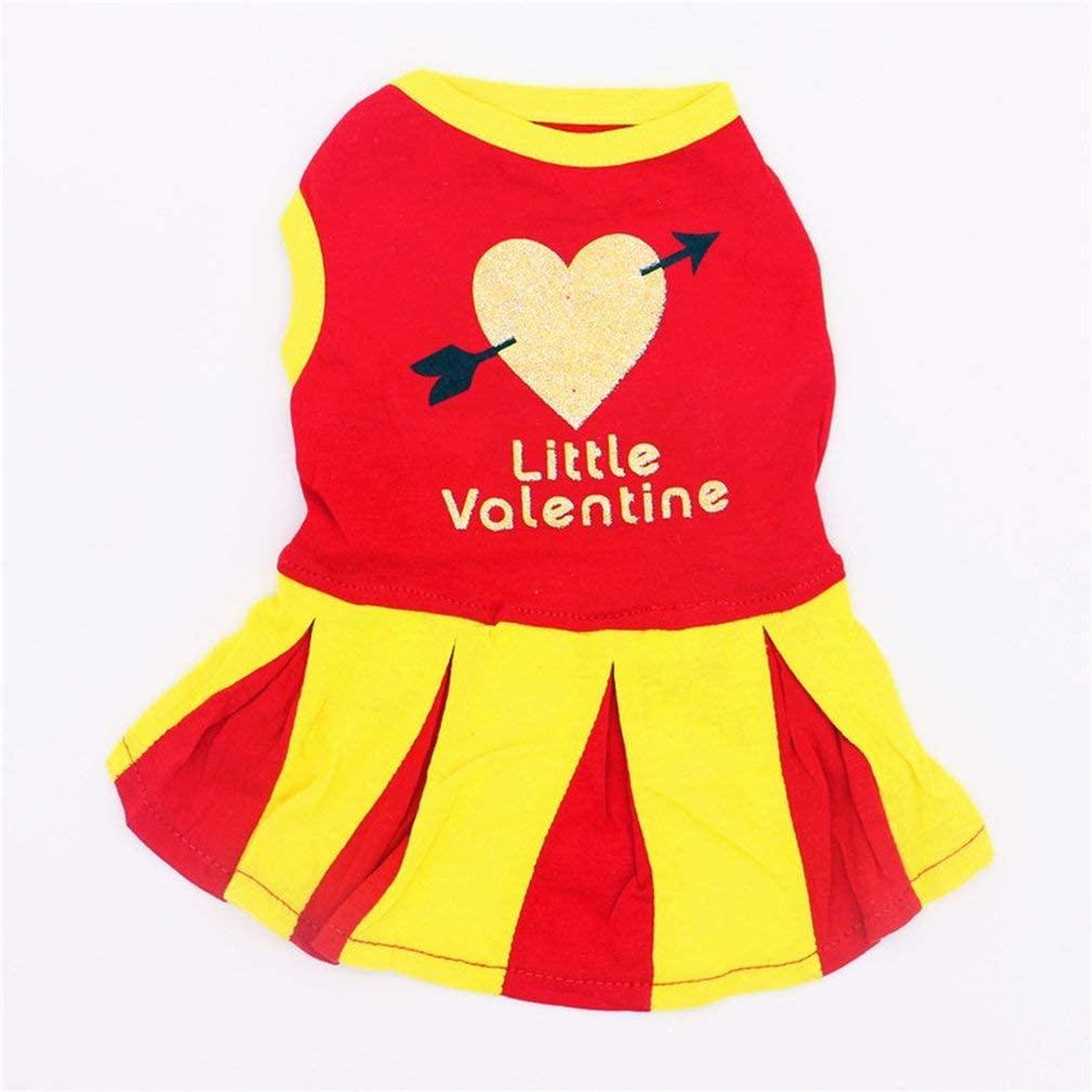 Summer Pet Dog Dress, Stylish Cute Cheerleading Skirt X-S