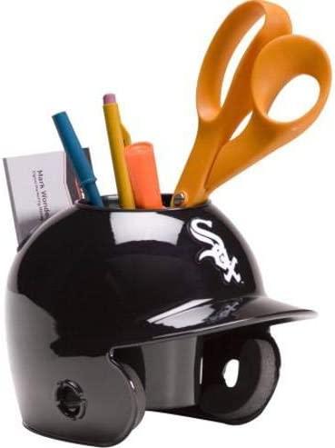 Chicago White Sox MLB Baseball Schutt Mini Batting Helmet Desk Caddy - MLB Mini Helmets