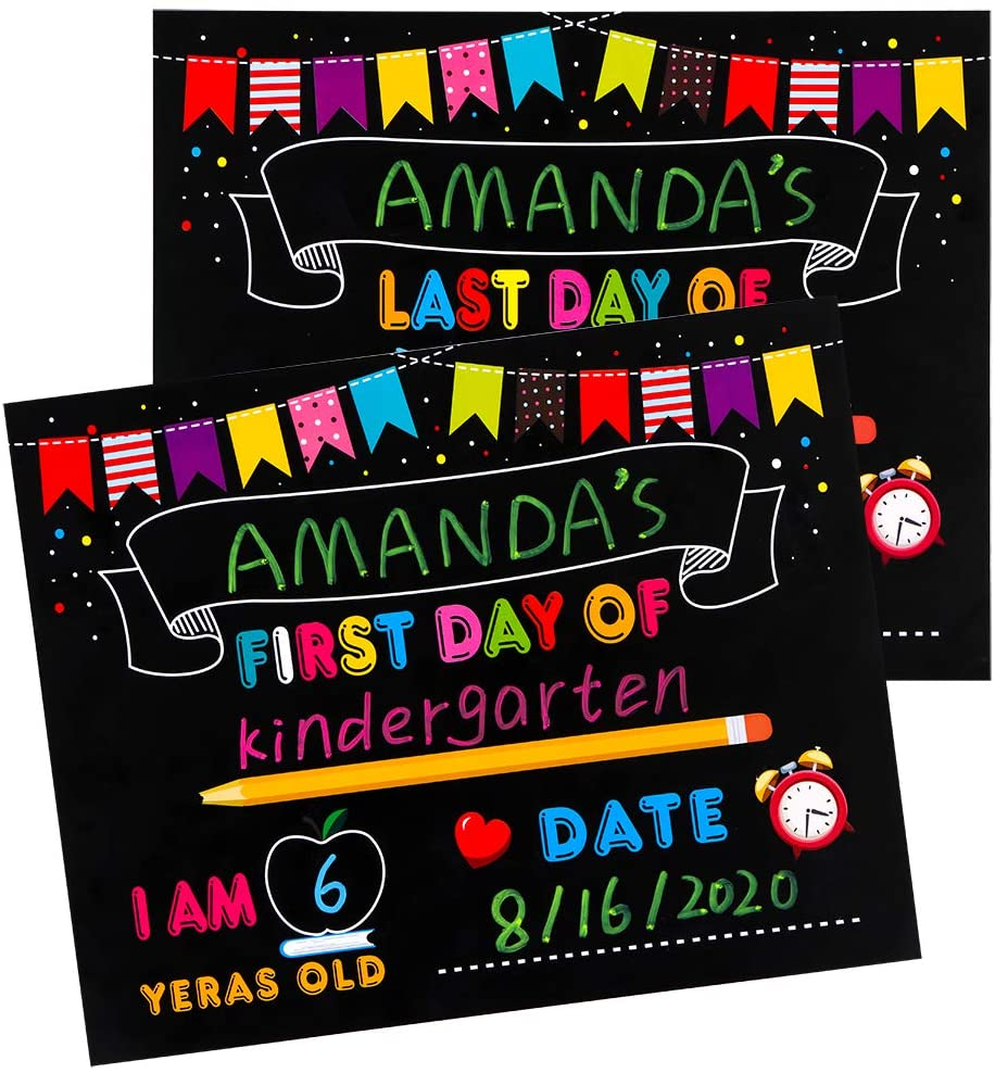 Hohomark 10 Pcs First Day and Last Day of School Sign,8