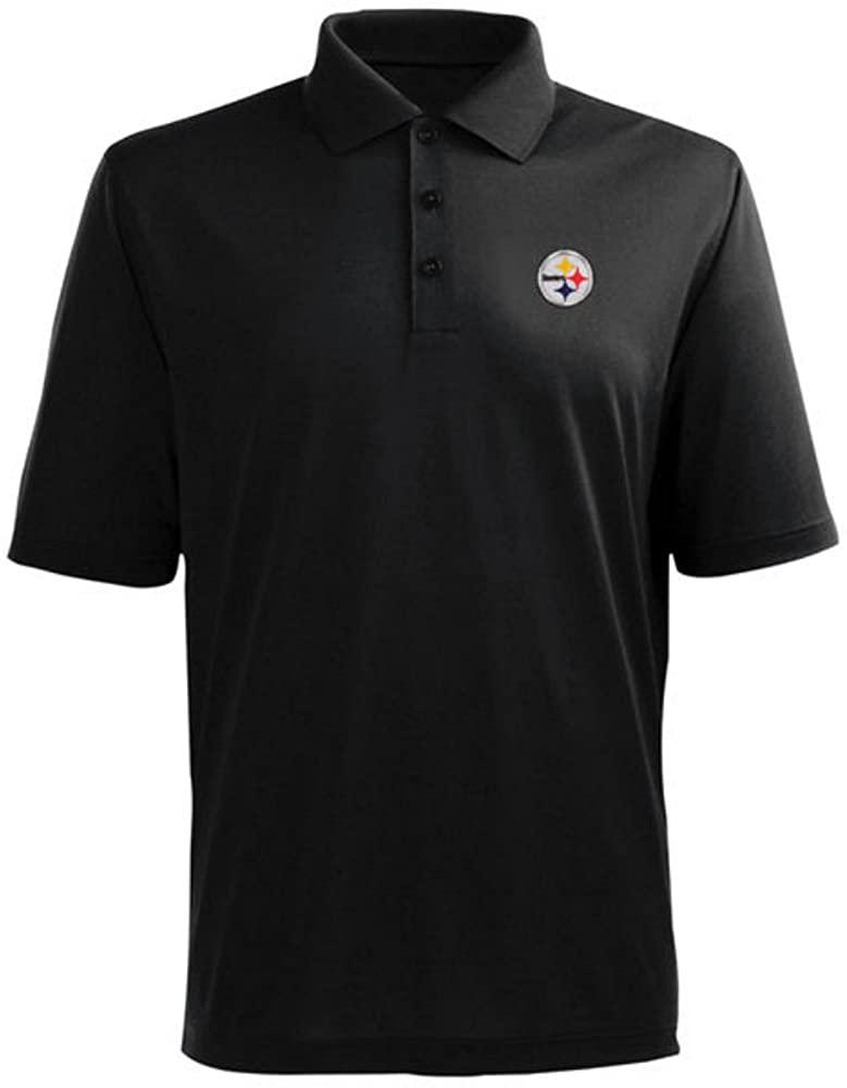 Genuine Merchandise Pittsburgh Steelers Adult Medium Performance Short Sleeve Polo Shirt - Black