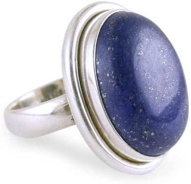 NOVICA Lapis Lazuli .925 Sterling Silver Cocktail Ring, Universe'