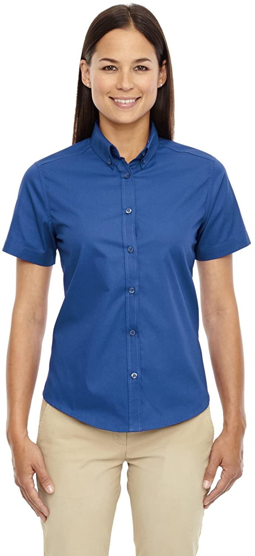 Ash City Women's Optimum Ladies' Core 365 Short Sleeve Twill Shirt, True Royal