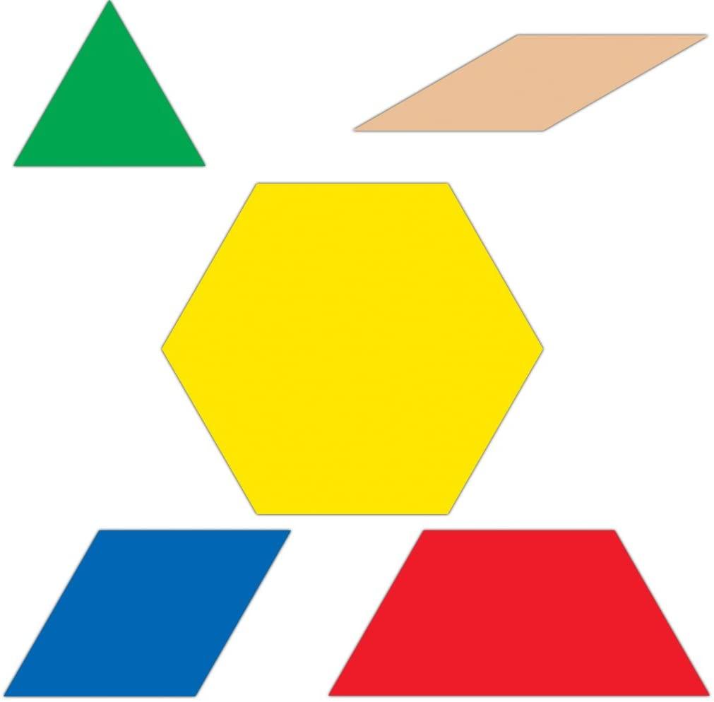 Carson Dellosa Pattern Blocks Curriculum Cut-Outs (120190)