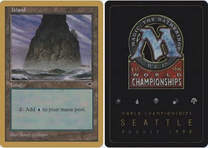 Magic The Gathering - Island - World Championship Deck Singles