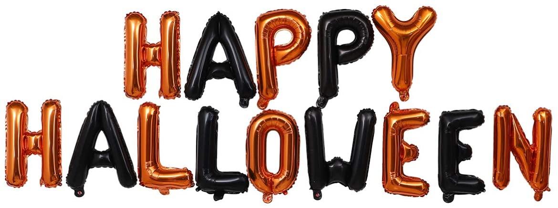 Cabilock 14Pcs Happy Halloween Balloons Party Decorations, Happy Halloween Balloon Banner Latex Balloons for Halloween Party