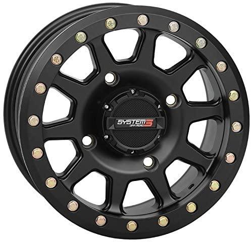 System 3 SB-3 Beadlock 14x10 ATV/UTV Wheel - Matte Black (4/156) 5+5 [19-0082]