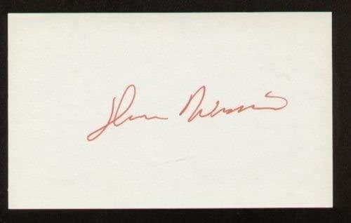 Glenn Wilson signed autograph 3x5 index card B4058