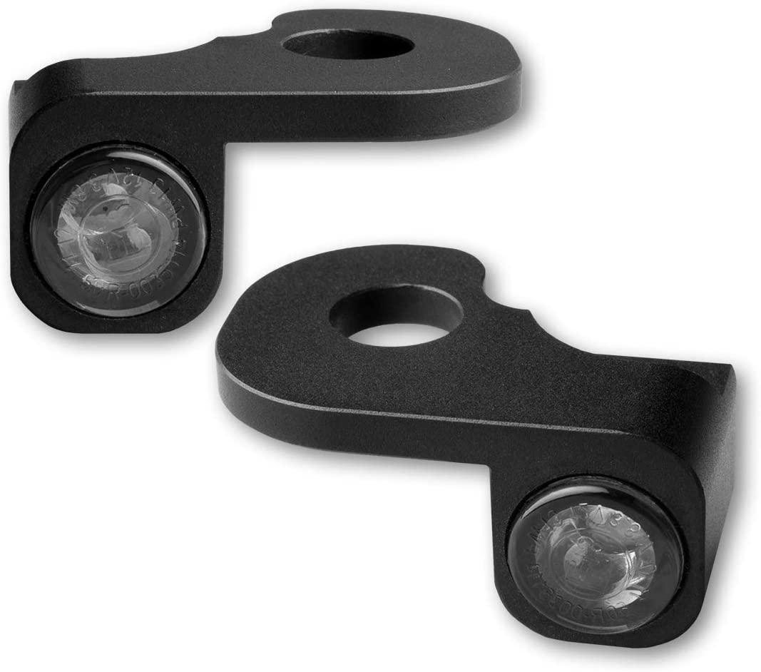 Motorize HeinzBikes Nano Series LED Indicators for HD Handlebar Fittings Breakout Hydraulic Coupling, Black