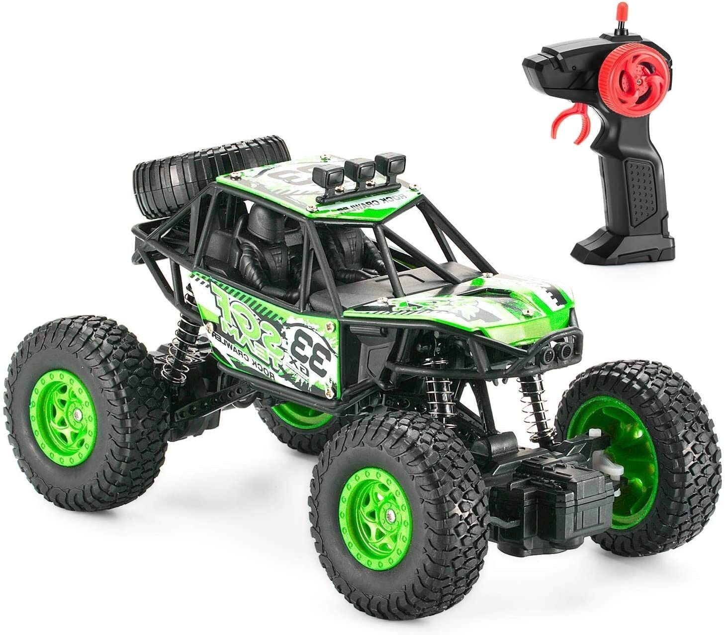 Poooc 1:20 RC Car, 4WD Remote Control Climbing Buggy 2.4GHz Rechargeable Waterproof Monster Truck All-Terrain RC Off-Road Vehicle - for 5~13 Year Old Children Best Birthday Gift