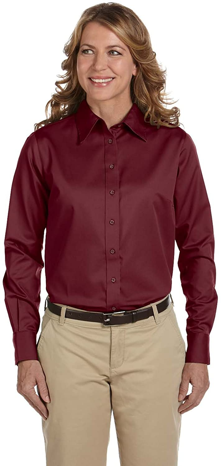 Harriton Women's Stain-Resist Twill Dress Shirt