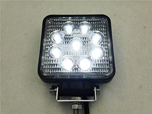 XKMT-Square 27W Spot BEAM LED Off Road Work 9 LED Light 12V 24V Universal USE SUV Car Truck Boat [B0116N30Y2]