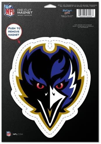WinCraft NFL Baltimore Ravens 20889012 Die Cut Logo Magnet, Small, Black