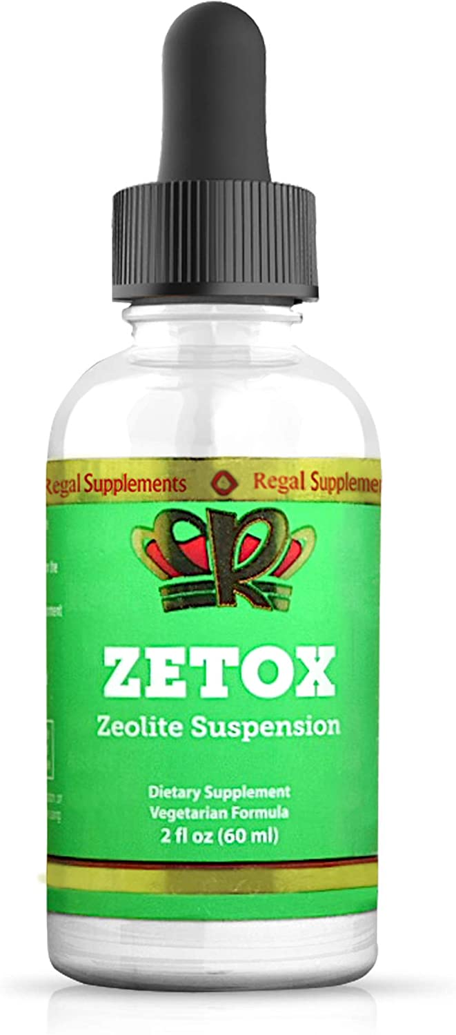 ZETOX   Easy to Take Liquid Zeolite Suspension with B-12 & D3   Natural Energy & Immune System Booster that Supports Daily Detox & Optimal pH   Max Absorption Alkaline Drops (60 Servings)