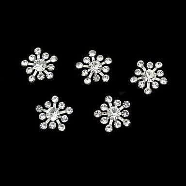 10pcs Rhinestone Snownflake DIY Accessories Nail Art Decoration