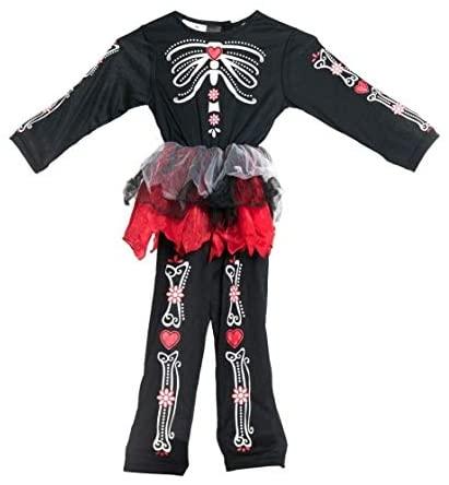 Bodysocks Girls Day of The Dead Fancy Dress Costume (2-4 Years)