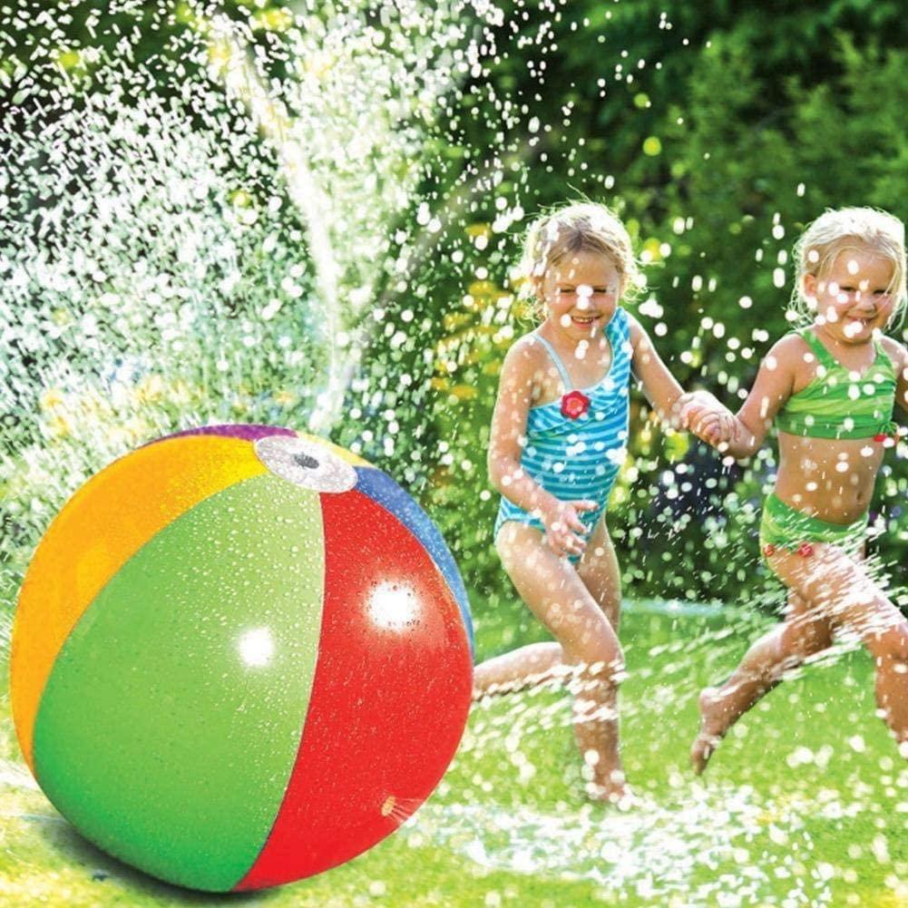LTJY Sprinkler Toys for Older Kids Outdoor, Sprinkler for Kids Ball - Summer Fun Garden Pool Beach Children's Inflatable (Four spouts 60cm in Diameter)