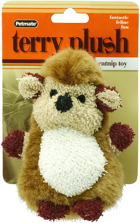 Petmate Booda Catnip Terry Hedgehog Toy, Multicolor