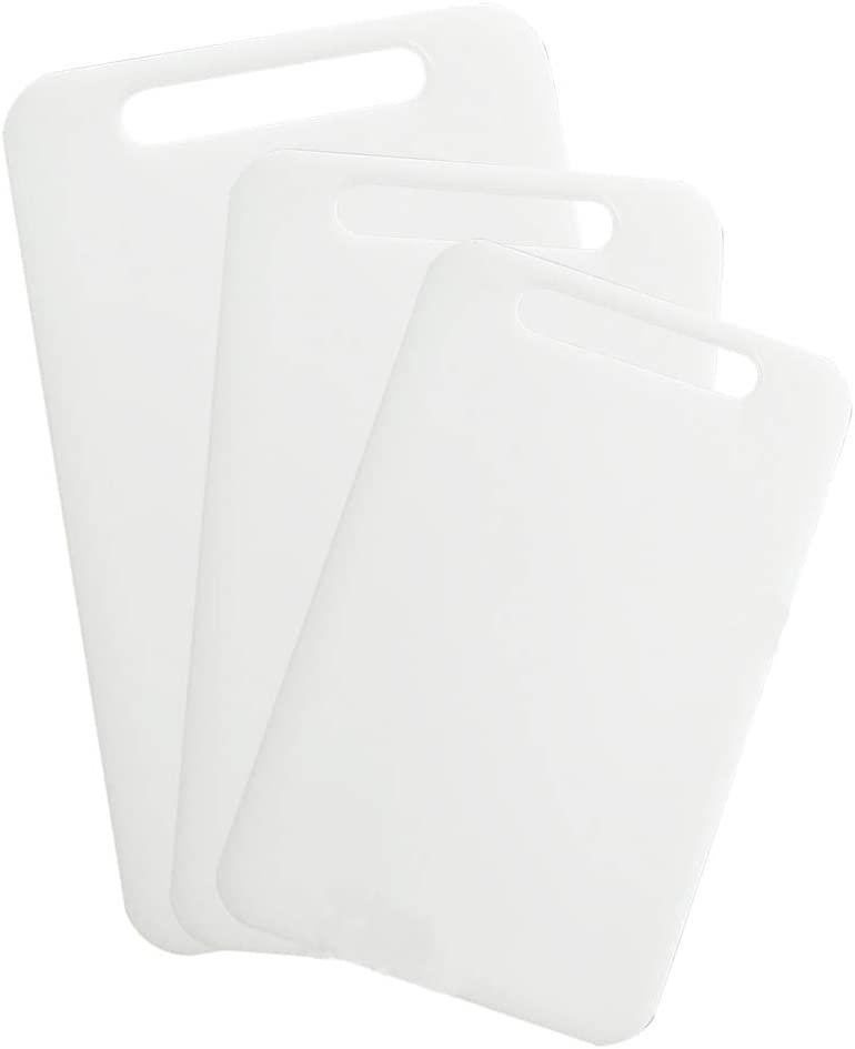 Super Leader 3Pcs Commercial Plastic Cutting Board,Nonslip Plastic Cutting Board,PE material,Chopping board,Salad preparation, etc
