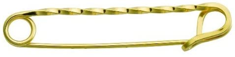 Perri's Gold Twisted Stock Pin, Gold Plated, One Size
