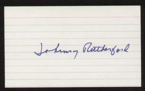 Johnny Rutherford signed autograph 3x5 index card B3026