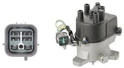 Rareelectrical NEW DISTRIBUTOR COMPATIBLE WITH HONDA CIVIC DEL SOL 1996 1997 1998 1.6L 30100P2EA01 TD80 690-120