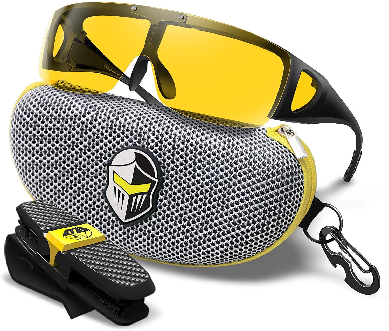 BLUPOND Fit Over Prescription Night Driving Glasses Semi Polarized Anti Glare