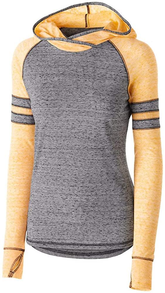 Ladies Heather Raglan Vintage Feel Sportswear Hoodie