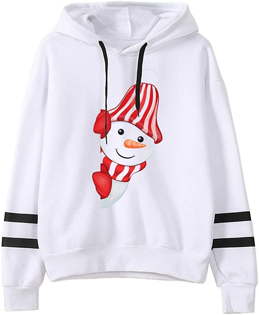 Girls' Hoodie, Misaky Christmas Pullover Sweatshirts Double Stripe Long Sleeve Plus Size Cropped Jumper Tops
