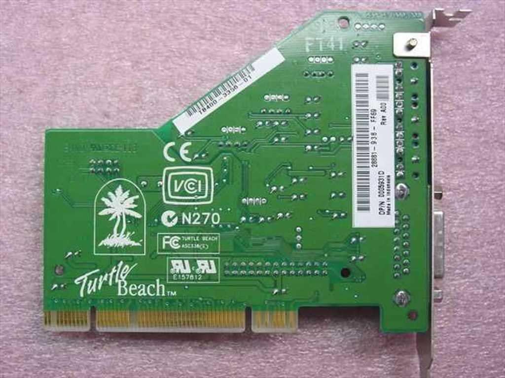 Turtle Beach - Sound PCI TBS400-3356-01 050-021900-205 DP/N 0005931D RevA00