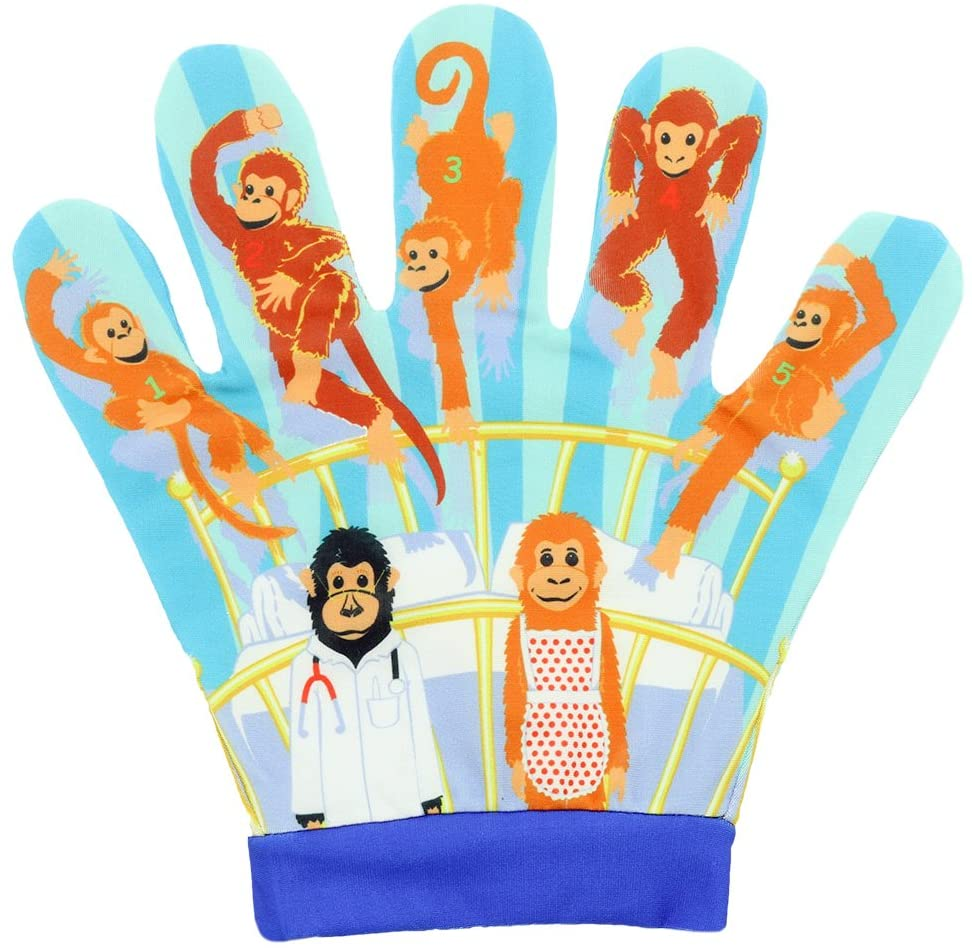 The Puppet Company Favourite Song Mitts Five Little Monkeys Hand Puppet