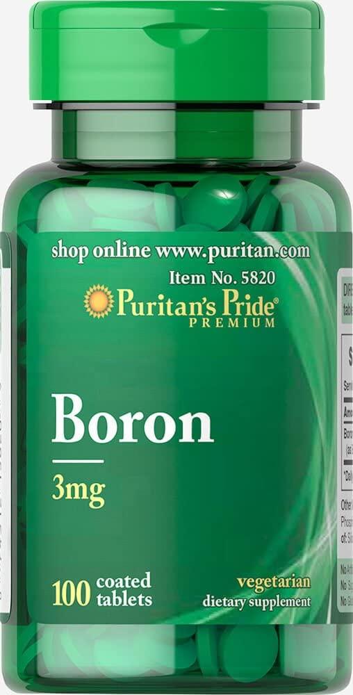 Puritans Pride Boron 3 mg Tablets, 100 Count