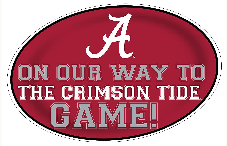 Alabama Crimson Tide Heading to the Game Magnet-university of Alabama 11X17 INCH JUMBO CAR MAGNET