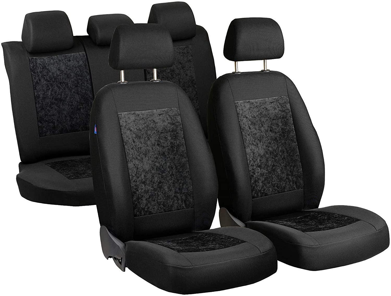 Zakschneider Car seat Covers for Croma - Full Set - Color Premium Black Velours