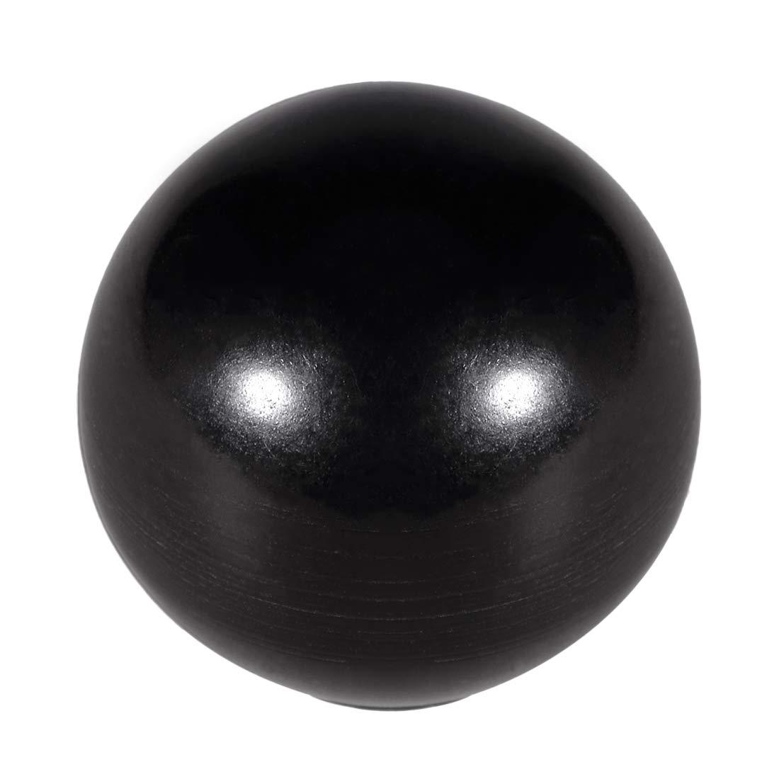 uxcell 15 Pcs Thermoset Ball Knob M5 Female Thread Machine Handle 16mm Diameter Smooth Rim Black