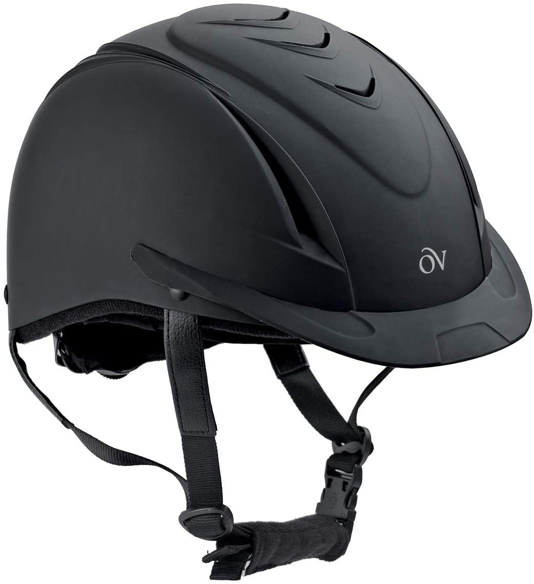 English Riding Supply Inc English Riding Supply Ovation Deluxe Schooler Helmet Black/Black M/L