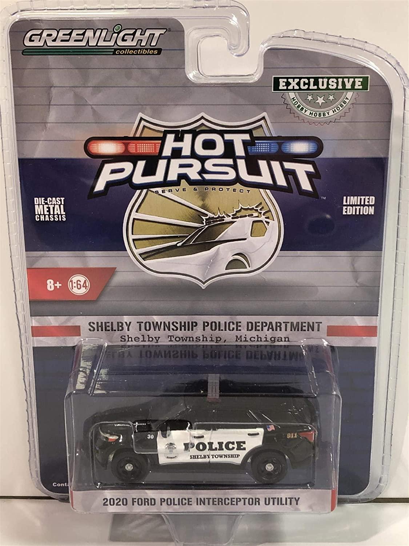 2020 Ford Police Interceptor Utility Shelby Township Police Department (Shelby Township, Michigan) 1/64 Diecast Model Car by Greenlight 30143