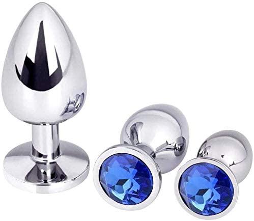 DSVV Butt Play Plug for Women 3 Pcs Àmàl Plùg Round Shaped Base with Jewelry Būtt Toys for Men Play