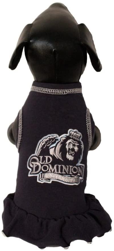 NCAA Old Dominion Monarchs Cheerleader Dog Dress (Team Color, XX-Small)