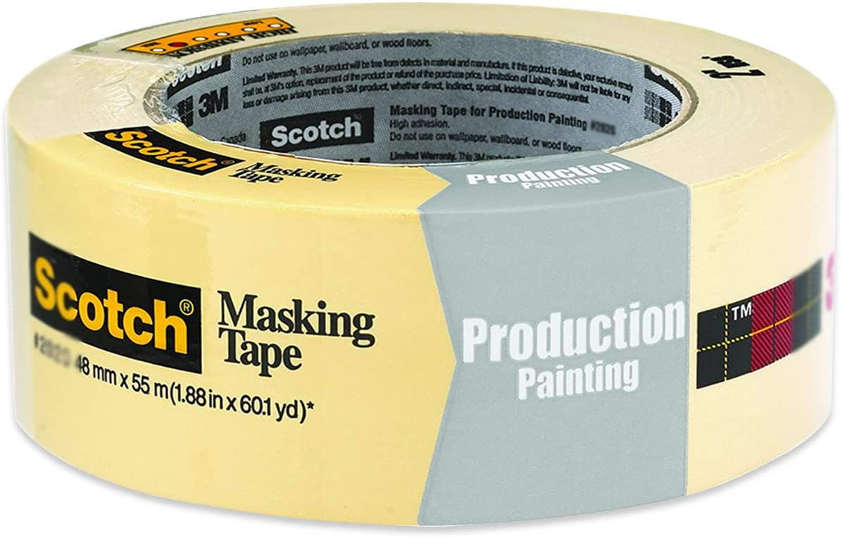 Scotch Masking Tape for Basic Painting 2025-48EP, 1.88-Inch by 60.1-Yard