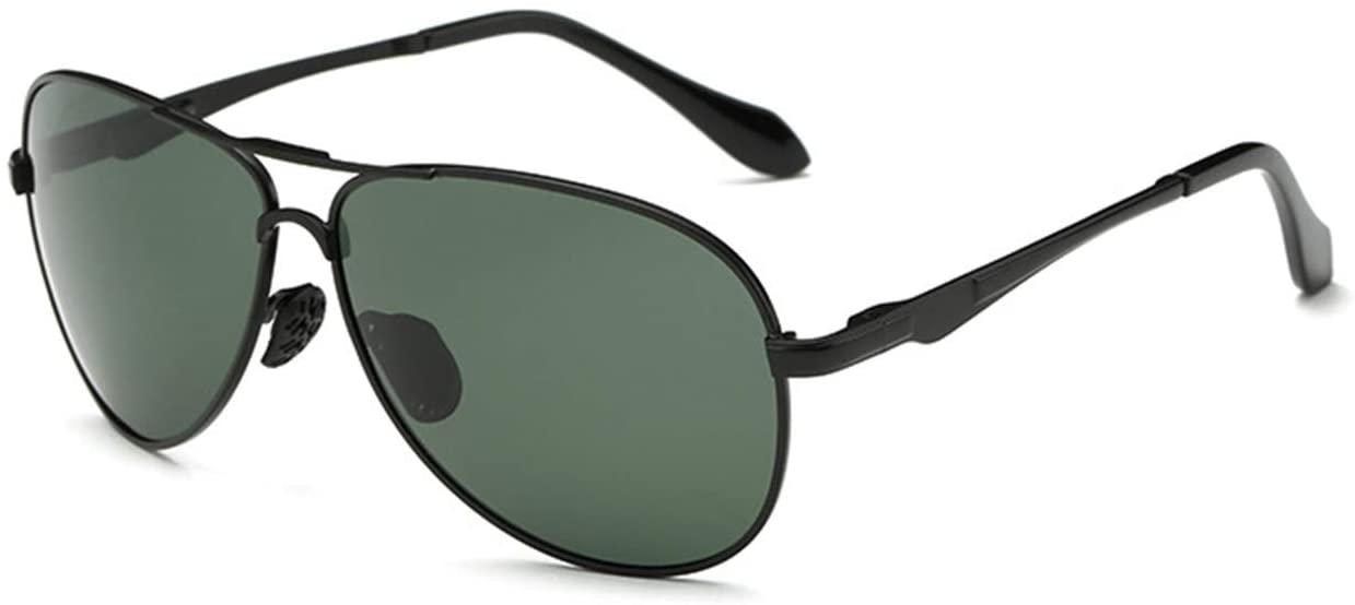 Mens Polarized Sunglasses Driver Sunglasses Driving Sunglasses Sunglasses - Black Frame - Dark Green Lens