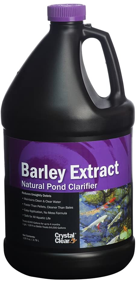 CrystalClear Barley Extract Concentrate - Natural Liquid Pond Clarifier - 1 Gallon Treats Up to 64,000 Gallons