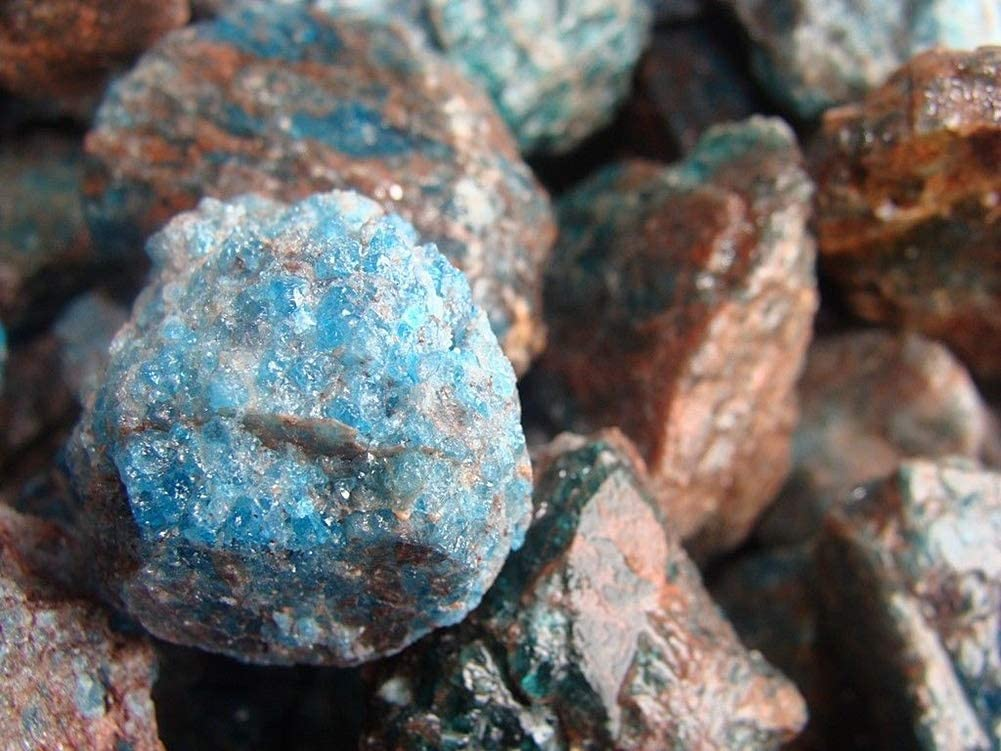 Spk Bulk Raw Rough Natural Gem Stones Unsearched Natural Apatite 2000ct for Specimens, Polishing, Tumbling, Cabbing