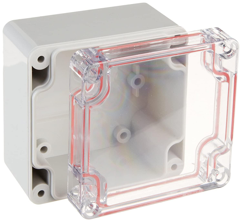 Serpac RB33-1TC1BG Polycarbonate Plastic Enclosure, 3.22