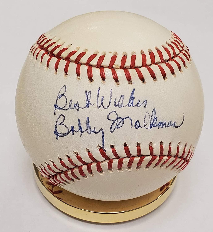Autographed Bobby Malmkus Official National League Baseball