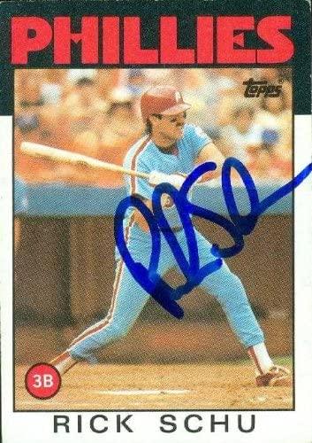 Rick Schu autographed Baseball Card (Philadelphia Phillies) 1986 Topps #16