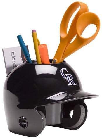 Colorado Rockies MLB Baseball Schutt Mini Batting Helmet Desk Caddy - MLB Mini Helmets