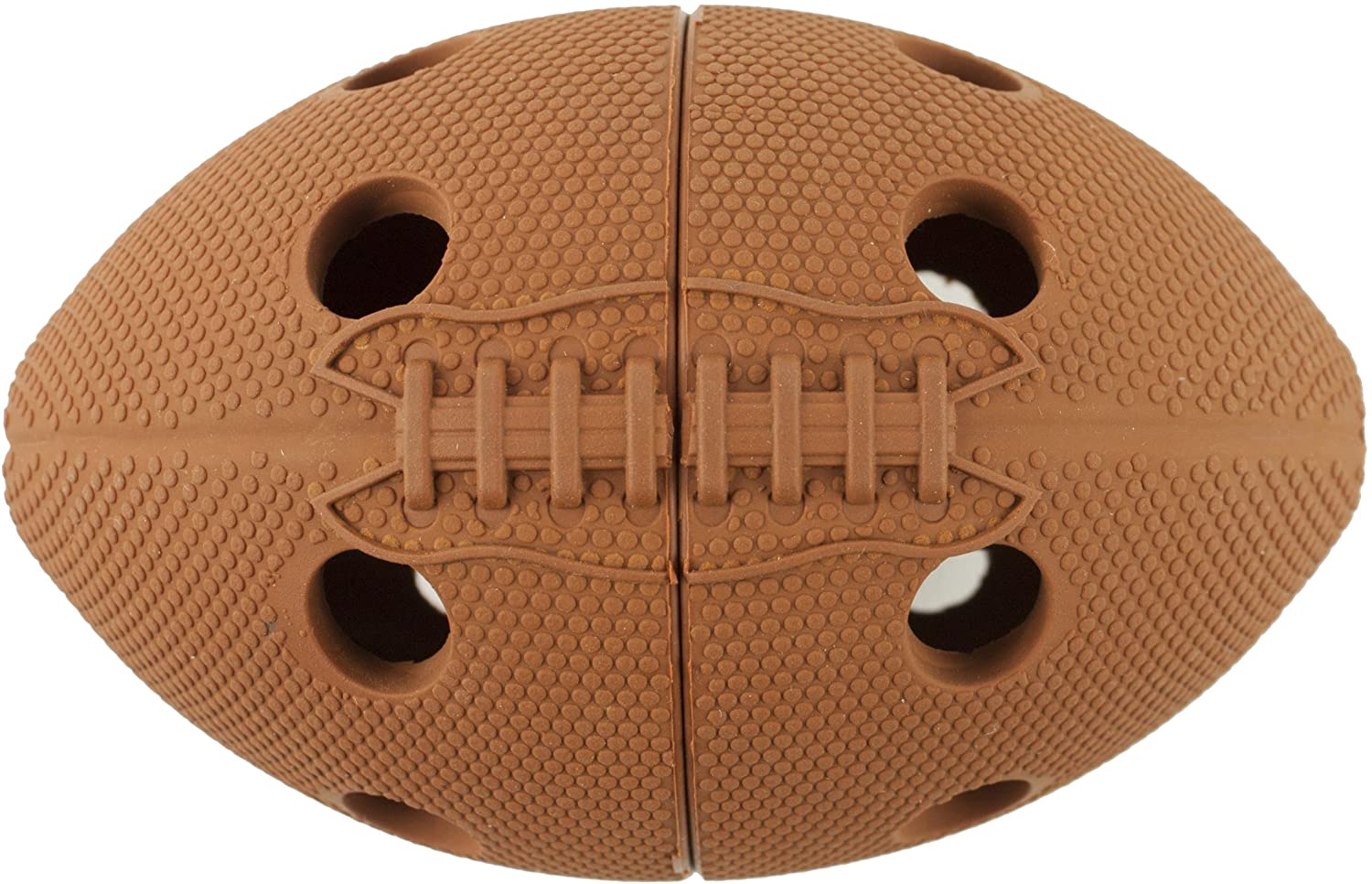 petprojekt Football Tretball Dog Treat Ball, Brown