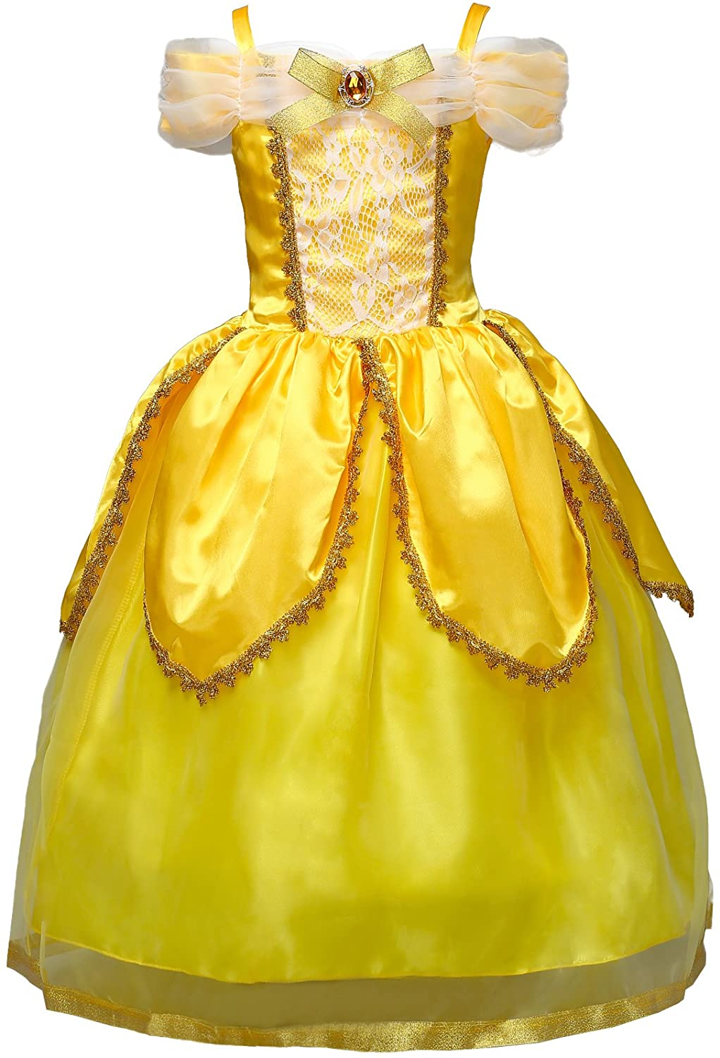 Dressy Daisy Girls Princess Dress Up Costumes Halloween Fancy Party Dress Size 3-10